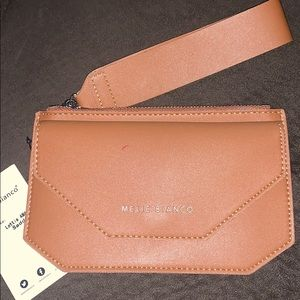 Melie Bianco Lottie Saddle Wristlet